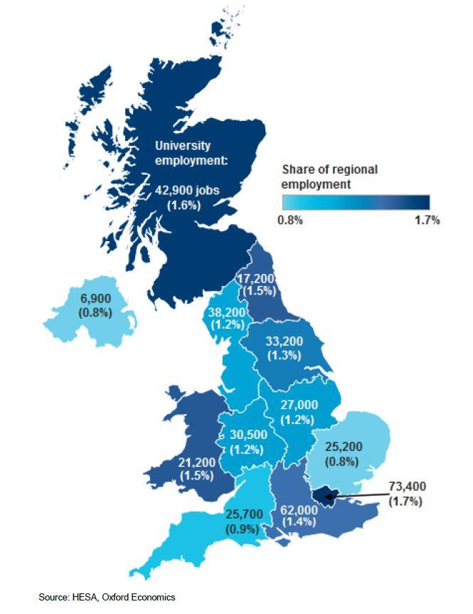 UK Universities Provide A Bn Economic Boost ChiefExeccom - Uk universities map